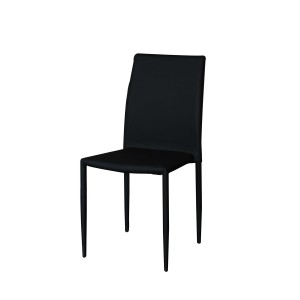 Ryan - Jazz Black Contemporary Faux Leather Dining Chair