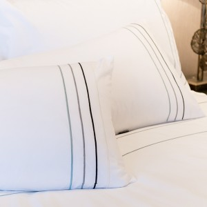 Entice - Multi Stitch Stripes Bodouir Pillow Case