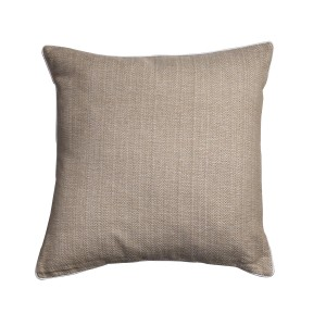 Safari - Sand cushion cover with white piping - Single