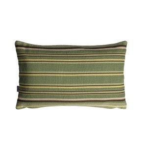 Fern - Green cushion Cover with horizontal stripes - Single