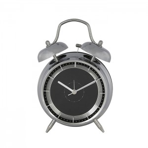 Tattler - Small Black and Silver Bell Alarm Clock